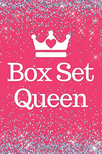 Box Set Queen: Pink Sparkly Box Set 6x9inch Notebook/Planner. Fun gift for Box set Lovers, Men, Women, Girls, Teens and Queens for Xmas, Valentine, Birthday or Any Occasion.