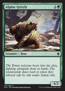Magic The Gathering - Alpine Grizzly (127/269) - Khans of Tarkir - Foil