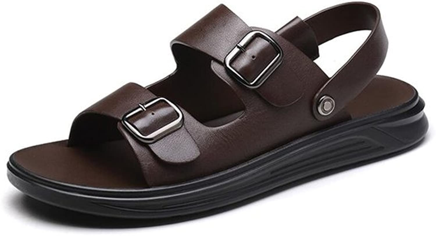 DALL Sports & Outdoor Sandals Ly-801 Business Casual Men's shoes Flat Sandals Slippers Beach shoes Summer Season Shock Absorption (color   Brown, Size   EU 41 UK 7 CN 41)