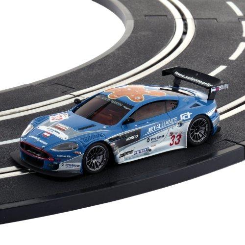 KYOSHO - D1431050102 - Radio Commande, Véhicule Miniature - Voiture pour Circuit Routier - DSLOT43 Aston Martin DBR9 Jet Alliance 2007 No.33 - 1:43 ème