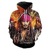 2020 Fashion Hoodies Películas Piratas del Caribe Imprimir 3D Hoodie Hombres Mujeres Niños Sudadera Cool Hoody Pullover-Wya444_S