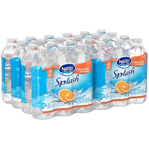 Nestl Splash Water Beverages, Mandarin Orange, 16.9 Oz, Case of 24 Bottles (2 Case of 24)