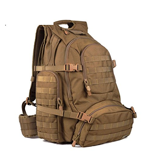 Sincere® Forfait / Sacs à dos / Portable / Ultraléger Noah ventilateurs militaires tactiques de camping extension sac à dos terrain / extérieur kits brun-40L