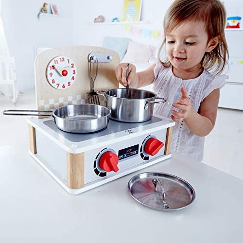 Hape 2-in-1 Kitchen & Grill Set Multicolor, L: 11.8, W: 9.1, H: 10.1 inch, count of 6