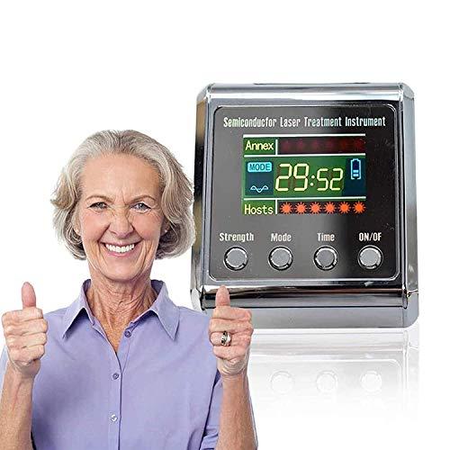 TZCC Semiconductor Reloj de Terapia Láser, para El Tratamiento de La Hipertensión Diabética Reloj DiabéTico Láser Sinusitis Terapia