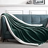 Suchtale Sherpa Fleece Blanket(Queen Size 90×90' Forest Green) Plush Throw Fuzzy Super Soft Reversible Microfiber Flannel Blankets for Couch, Bed, Sofa Ultra Luxurious Warm and Cozy for All Seasons