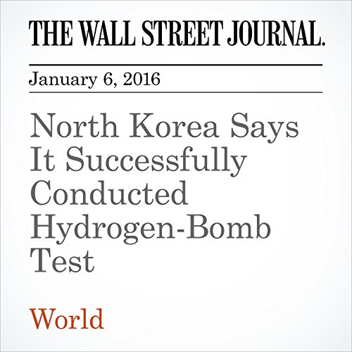North Korea Says It Successfully Conducted Hydrogen-Bomb Test cover art