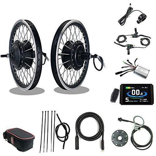 RICETOO Kit de conversión de Bicicleta eléctrica 36V/48V 350W 16