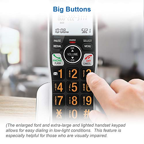 AT&T BL102-3 DECT 6.0 3-Handset Cordless Phone for Home with Answering Machine, Call Blocking, Caller ID Announcer, Audio Assist, Intercom, and Unsurpassed Range, Silver/Black