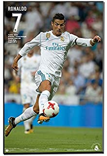 Real Madrid Cristiano Ronaldo 2017-18 Mounted Plaqued Poster Hang On Wall 16`x20`