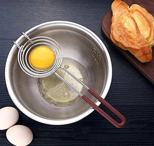 Egg Separator Egg Yolk White Separator Egg Yolk Separator Kitchen Gadgets Egg Separator Tool Food Grade Stainless Steel Egg Whites Liquid Egg Splitter Gravy Separator Cooking Gadgets ES0320