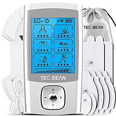 NURSAL Tens Unit with 16 Modes and 8 Pads Electronic Pain Relief Massager