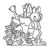 AIUI - Sello de silicona con forma de conejo de Pascua para scrapbooking