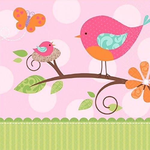 amscan Tweet Girl Baby Shower Party Luncheon Napkins (16 Piece),