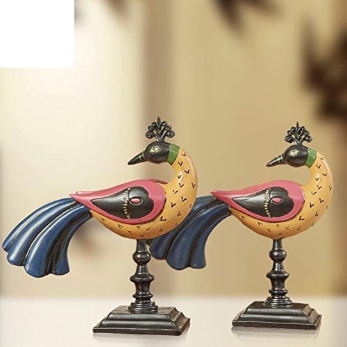 PAOSOSO Kreative Continental-Billed Leiothrix Display/Pfau-Ornamente/Schnaps Kabinett TV Schrank Handwerk