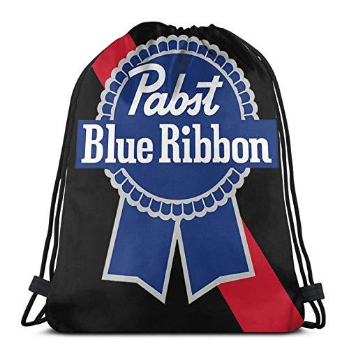 asdew987 Bolsas con cordón Pabst Cinta Azul Unisex Cordón Mochila Bolsa de Deportes Bolsa de Cuerda Bolsa Grande Bolsa Bolsa Bolsa de Gimnasio Mochila A Granel