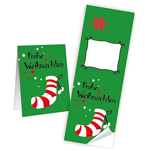 Logbuch-Verlag - Papeterie & Sticker in Grün-rot-weiß, Größe 25 Stück