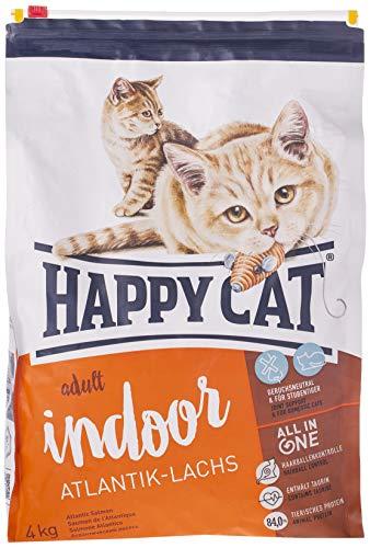 Happy Cat Fit/Well Indoor Croquette Saumon pour Chat Adulte 4 kg