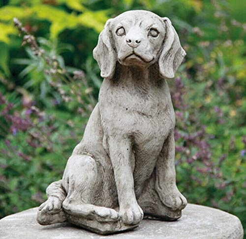 Beagle Dog Statue | Reconstituted Stone Vintage Animal Concrete Garden Ornament