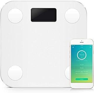 Básculas Digitales De Baño Mini Smart ScaleBody Fat Scale Con Nueva Aplicación Gratuita Y Monitor De Composición Corporal De Trabajo Blanco