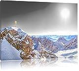 Pixxprint Zugspitze im Sonnenlicht als
