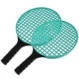 BESPORTBLE 2 Pzas Raqueta de Tenis para Niños Al Aire Libre Raqueta de Bádminton Verde para Niños de Mango Corto Raqueta de Tenis Deportiva Portátil Exterior de Juguete de Entrenamiento para