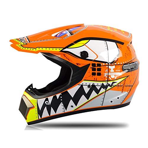 GENGJ Motocross Helm Set Mit Schutzbrille Handschuhe Maske Adult Off Road Helm Kit...
