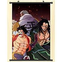 アニメポスター布巻物絵画壁画壁巻物ぶら下げポスター装飾ギフト One Piece 50x75cm