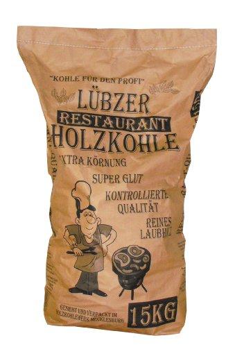 Favorit Grill-Holzkohle 15 kg (aus reinem Laubholz, extra große Körnung, langanhaltende Glut, Grillkohle in Restaurant-Qualität) 1500