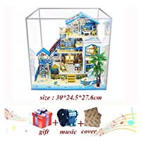 Duo Mei Qi ドールハウス家具DIYミニチュア3D木製ミニトゥラスドールハウスおもちゃ子供の誕生日プレゼント (色 : E house cover music)