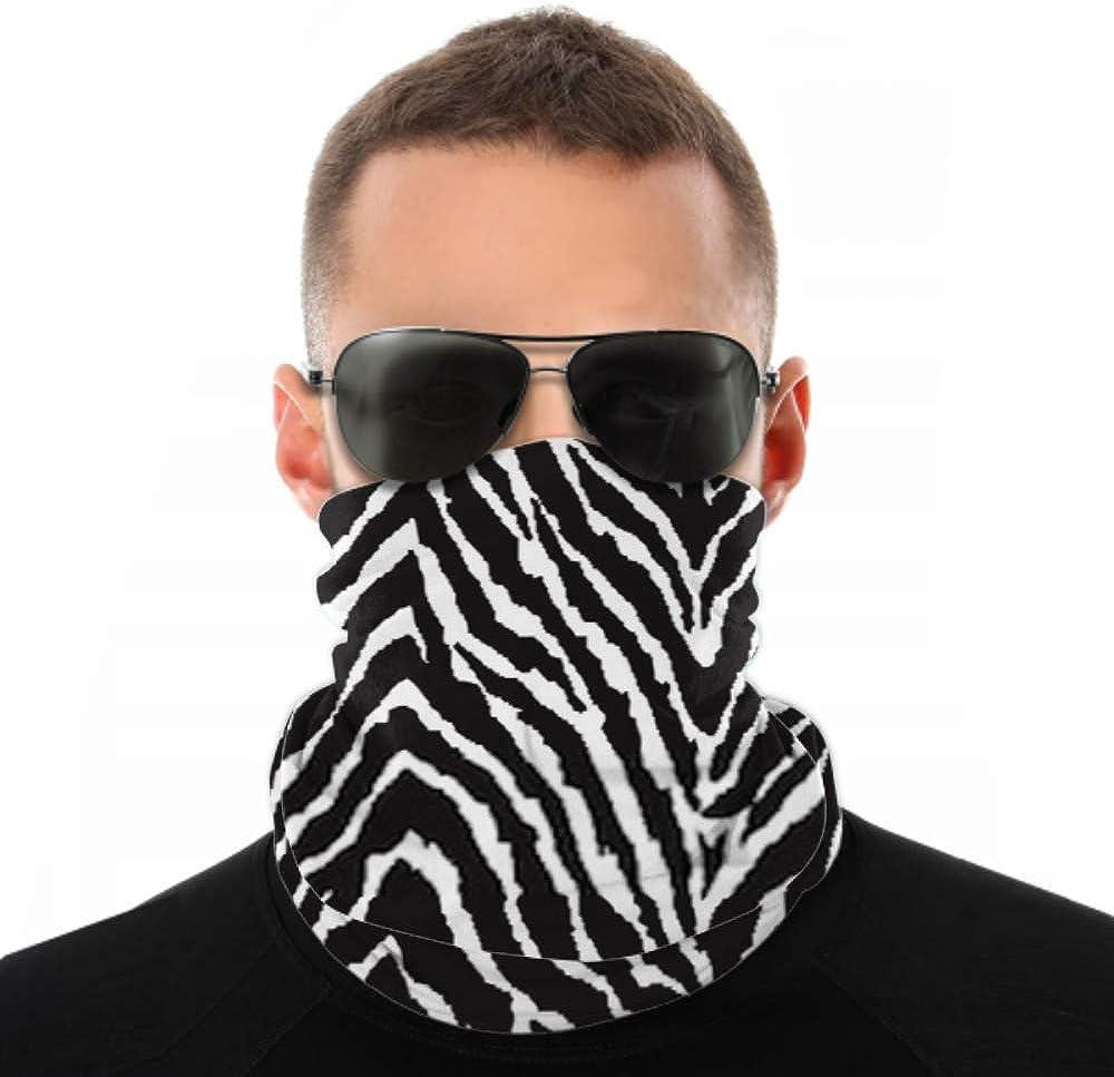 Headbands For Men Women Neck Gaiter, Face Mask, Headband, Scarf Black White Zebra Print Seamless Background Turban Multi Scarf Double Sided Print Head Wrap For Women For Sport Outdoor