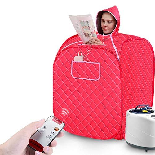 LICHONGUI Dampf Sauna Spa Personal Therapeutische Sauna für Gewichtsverlust Detox Relaxation Single Use Home Sauna Spa Zelt mit Fernbedienung Nennleistung 1000W (Color : Red)