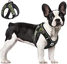 ACKERPET Comfort Step in Dog Harness Easy to Put on Small Dog Harness No Choke Adjustable Pet Vest No Pull Outdoor Sport Vest Harness Reflective Soft Padded Vest for Small Medium Dogs(M, Green)