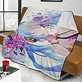 Hatsune Miku Anime Blanket Lightweight Microfiber All Season Premium Lightweight Funny Print Fleece Blankets Thin Blanket and Large Lightweight