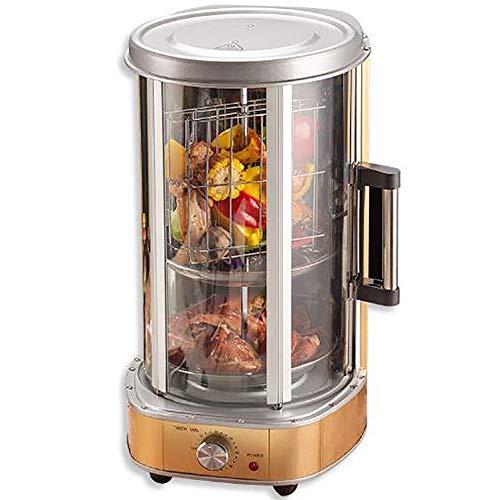 Brochetas rotativas completamente automáticas, máquinas de barbacoa portátiles sin humo, kebabs/pollo asado y patos, hornos rotativos completamente automáticos para el hogar