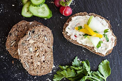 4x KETOFAKTUR® Brot No38 | zu 98% kohlenhydratreduziert | KETOGEN (low carb high fat) | GLUTENFREI | VEGAN | Sojafrei, Enzymfrei, Hefefrei, Weizenfrei, ohne Palmfett | PALEO, DIABETIKER geeignet