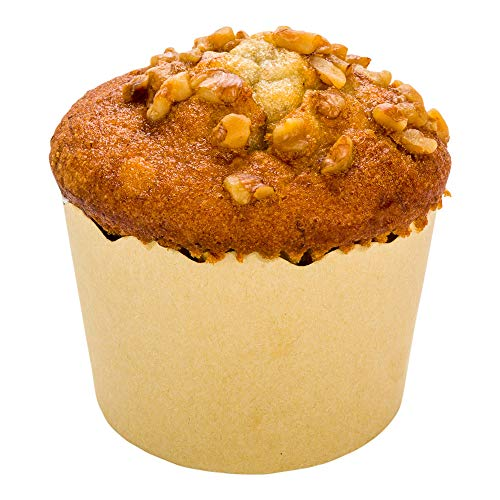 Panificio Premium 5 oz Kraft Paper Classic Baking Cup: Paper Baking Cups Perfect for Muffins, Cupcakes or Mini Snacks - Scalloped - Disposable and Recyclable - 200ct Box - Restaurantware