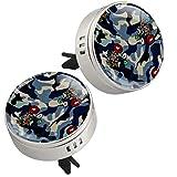 MUOOUM Torrent Safflower - Ambientador para coche con clip de ventilación, aroma de coche, difusor de perfume (plateado)