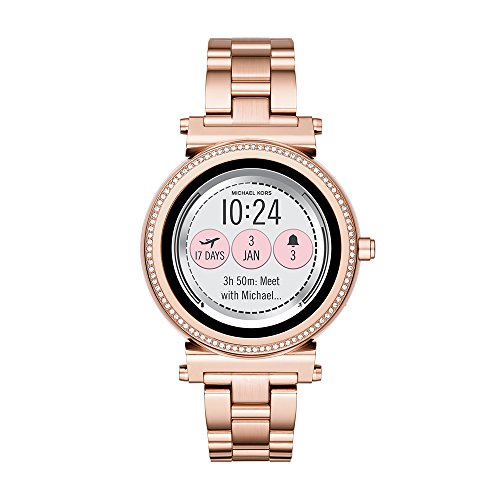 Michael Kors Access Women's Quartz Stainless Steel Casual Watch, Color:Rose Gold-Toned (Model:...