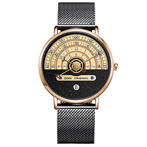 RORIOS Herren Uhren Analog Quarz Armbanduhren Himmel Zifferblatt Uhr mit Edelstahl Meshband Modisch Uhr für Männer