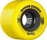 Bones Wheels Rough Riders 80a Skateboard Wheels, Yellow, 56mm
