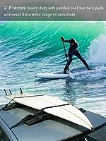 ルーフラックパッド、サーフカヌーカヤックパドルボードサーフボードスノーボード用ユニバーサルスクラッチシリコンタイダウンストラップラゲッジキャリア