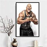 Poster Rock Dwayne Johnson Workout Fitness Bodybuilding