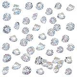 HAKACC 500 Stück Glas Deko Diamanten, 10mm Brillanten Glasdiamanten Klare Kristalledelsteine für Hochzeit Gunst Tabelle Mittelstück