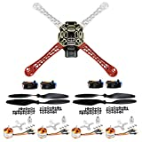 QWinOut F450 4-Axis Airframe 450mm Quadcopter Drone Frame Kit with 2-4S 30A RC Brushless ESC A2212 1000KV Brushless Motor 13T 1045 CW CCW Propellers