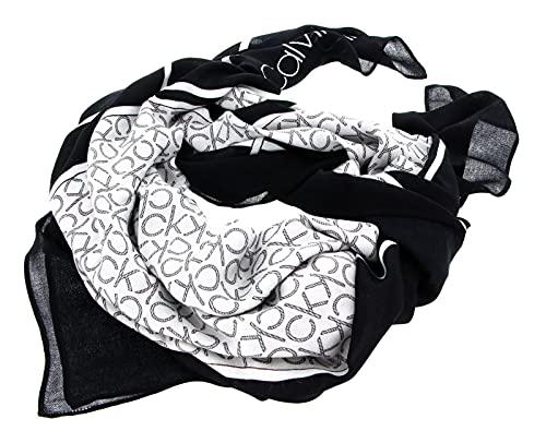 Calvin Klein Woven Scarf Black/White Mix