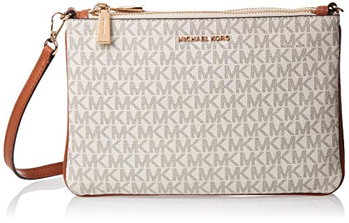 Two zipped compartments, inner open pocket and card slots, front logo hardware, Adjustable and removable shoulder strap. W 9.84 x H 6.3 x D 0.98 inches.