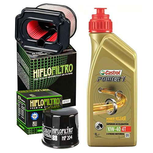 Kit Tagliando Castrol Power 1 10 W40 Filtro Aceite Aire para Yamaha MT-07 ABS 2014/2016