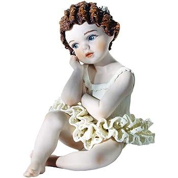 Bambola in Porcellana Elegante Decorazione Artigianale Made in Italy Statua in Porcellana Pippi Manifattura Classica Artistica Vicentina