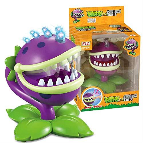 KIJIGHG plantes vs Zombies morsure main jouet figurine d'action modèle de jeu violet grande bouche fleur vert Anime figurine figurines d'action modèle de personnage d'anime